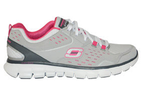 tenis skechers synergy a lister cinza rosa