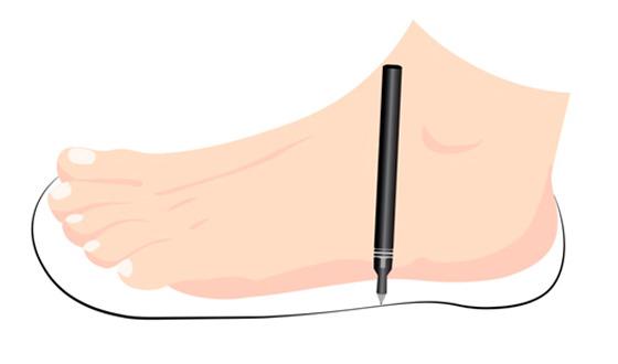 1.Forma caseira de medir o tamanho dos pés