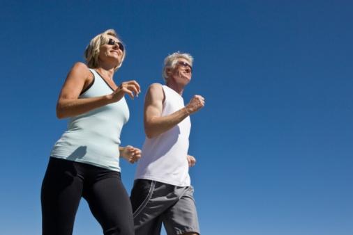 60 anos Idosos na corrida exercicio atividade física