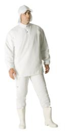 Homem com uniforme de frigorífico.