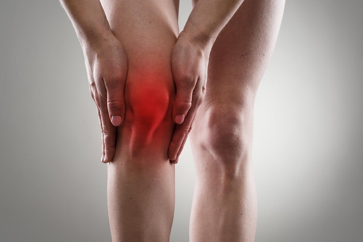 Articulação do joelho lesionada