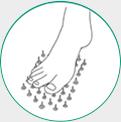 icone ilustrativo para dormencia nos pés