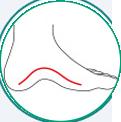 icone ilustrativo para pé chato e pé cavo